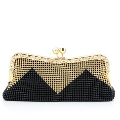Classical Rhinestone With Metal Clutches
