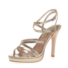 Women's Leatherette Stiletto Heel Sandals Platform Peep Toe With Buckle shoes (087041250)