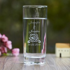 Personalized Flower Design Glass Drinkware