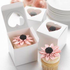 Heart Cut–outs Cubic Cupcake Boxes