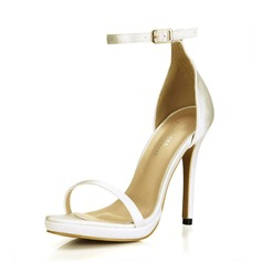 Women's Satin Stiletto Heel Platform Sandals