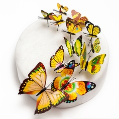 Butterfly Beautiful Butterfly PVC Wedding Cake Topper (Set of 12)