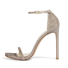 Women's Sparkling Glitter Stiletto Heel Sandals shoes