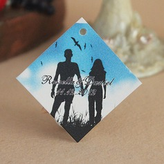 """Personalized """"Romance"""" Hard Card Paper Tags"""