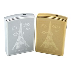 Personalized Eiffel Tower Design Stainless Steel Electronic Lighter