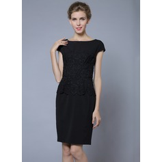 Polyester/Lace With Solid Color Above Knee Dress (199087023)