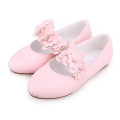 Kids' Leatherette Flat Heel Closed Toe Flats With Applique