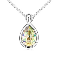 """Virgo"" Alloy/Crystal/Platinum Plated Ladies' Necklaces"