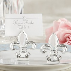 """Fleur-de-Lis"" Resin Place Card Holders (Set of 6)"