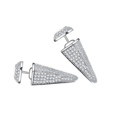 Chic Copper/Zircon/Platinum Plated Ladies' Earrings