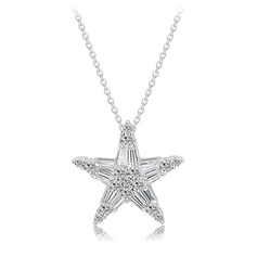 Stars Copper/Zircon/Platinum Plated Women's/Ladies'/Child's Necklaces