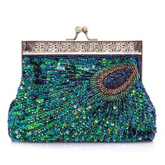 Unique Sparkling Glitter With Beading Clutches
