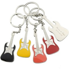 Personalized Guitar Zinc Alloy Keychains  (118031971)