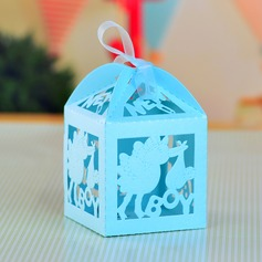 Baby's Day Out Cuboid Favor Boxes With Ribbons (Set of 12)