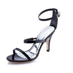 Patent Leather Stiletto Heel Sandals shoes