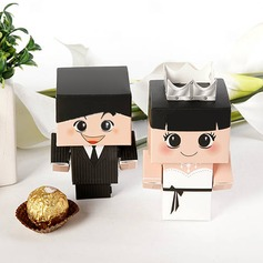 Bride & Groom Favor Boxes (Set of 6 Pairs)