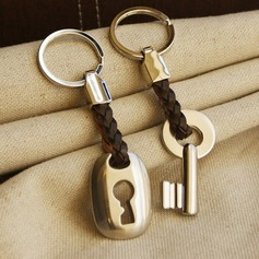 Lock and Key Zinc alloy Keychains