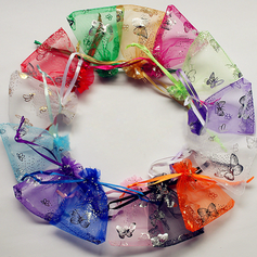 Butterfly Design Favor Bags With Ribbon - Set of 24 (More Colors) (050019805)