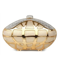 Elegant Silk/Metal With Crystal/ Rhinestone Clutches/Evening Handbags