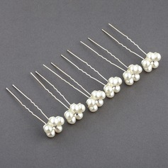 Special/Elegant Alloy/Imitation Pearls Hairpins(Set of 6)