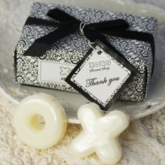 """Hugs & Kisses From Mr. & Mrs."" Bath & Soaps With Ribbons/Tag (Set of 2 pieces)"
