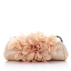Gorgeous Satin/Chiffon With Flower Clutches