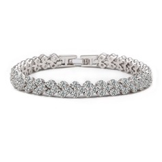 Shining Zircon/Platinum Plated Ladies' Bracelets (011053728)