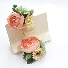 Fascinating Artificial Silk Flower Sets (set of 2) - Wrist Corsage/Boutonniere