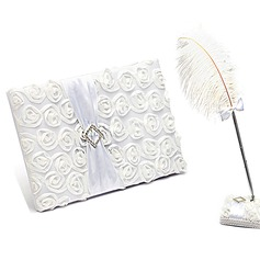 Lovely Rose Sash Guestbook & Pen Set