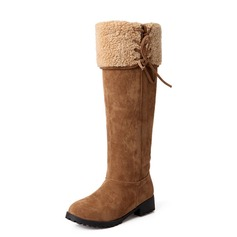 Suede Low Heel Knee High Boots Snow Boots shoes