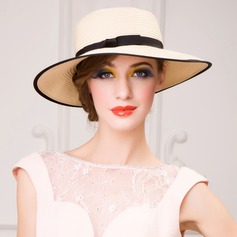 Ladies' Glamourous Summer Papyrus With Straw Hat