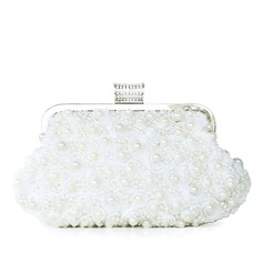 Gorgeous Lace With Imitation Pearl Clutches