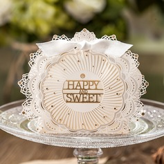"""""""Happy and Sweet"""" Favor Boxes With Bow (Set of 12)"""