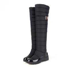 Women's Cloth Low Heel Platform Over The Knee Boots shoes
