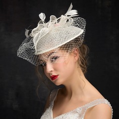 Fashion Feather/Net Yarn/Linen With Feather Fascinators