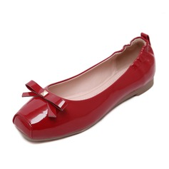 Women's Leatherette Flat Heel Flats Closed Toe shoes (086092686)