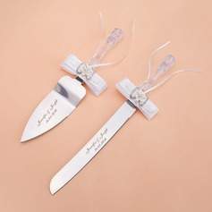 Personalized Pretty Stainless Steel Serving Sets With Pearl