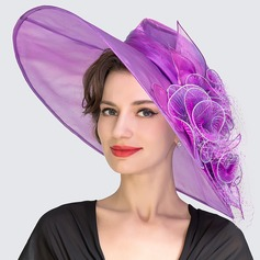 Ladies' Eye-catching Spring/Summer Organza With Bowler/Cloche Hat