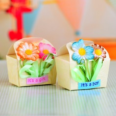 Baby's Day Out Favor Boxes With Flowers (Set of 12)