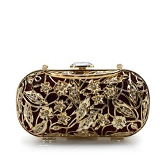 Gorgeous Metal With Rhinestone Clutches/Top Handle Bags