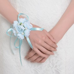 Lovely Round Satin Wrist Corsage