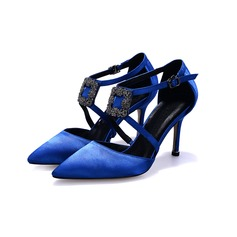 Women's Satin Stiletto Heel Pumps shoes
