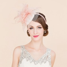 Ladies' Exquisite Cambric With Feather/Tulle Fascinators