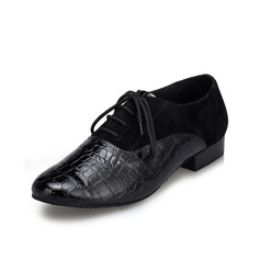 Men's Leatherette Suede Flats Modern Dance Shoes