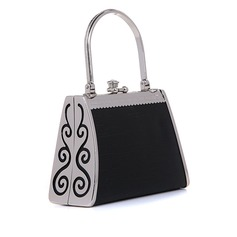 Unique Faux Leather/Metal With Rhinestone Fashion Handbags
