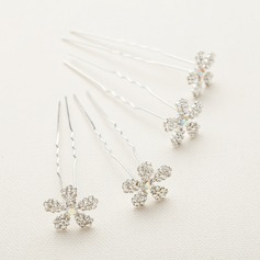 Shining Alloy/Austrian Crystal Hairpins(Set of 4)