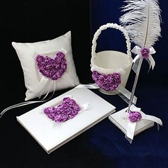 Lilac Rose Heart Designed Collection Set in Satin
