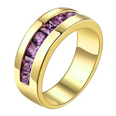 Fashional Copper/Zircon/Gold Plated Ladies' Rings