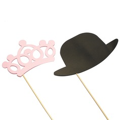 """""""Mr. & Mrs."""" Pearl Paper Photo Booth Props"""