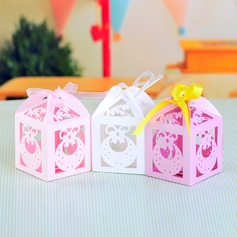 Classic Cuboid Favor Boxes With Ribbons (Set of 12)